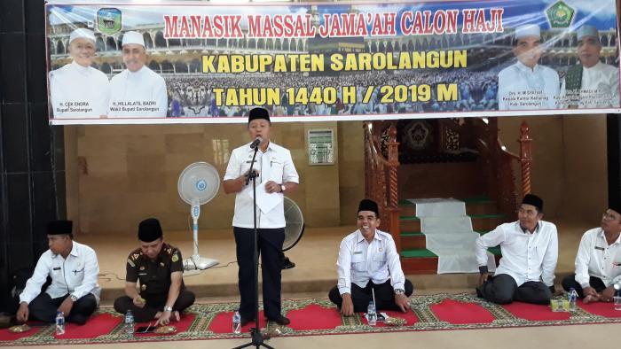 Sekda Buka Manasik Haji Massal Kemenag Sarolangun