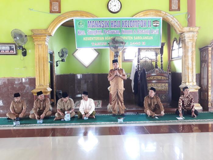 Dibuka Ka. Kemenag, 105 JCH Mengikuti Manasik Haji Kelompok 2