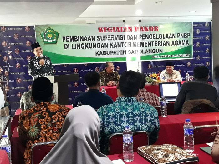 Kemenag Gelar Rakor Pembinaan Supervisi dan Pengelolaan PNBP