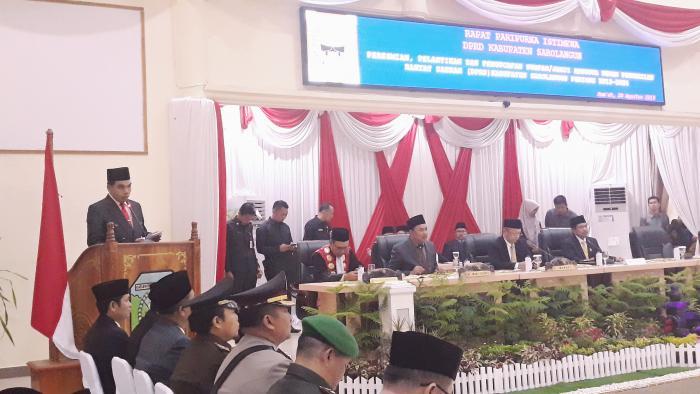 H.M. Syatar Pimpin Do'a Pelantikan Anggota DPRD Kabupaten Sarolangun