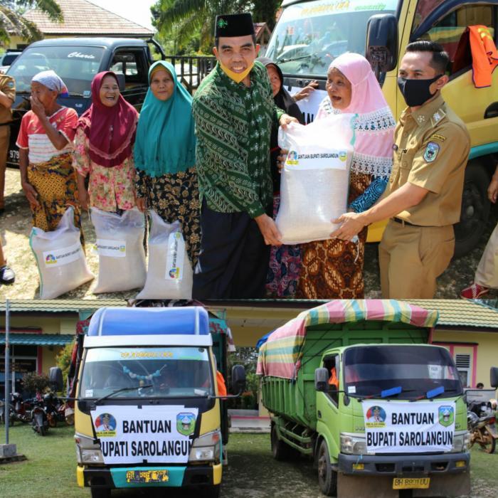 Ketua PCNU Sarolangun Ikut Distribusikan Beras Bantuan Covid-19