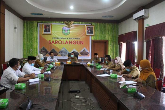 Rapat pembahasan persiapan Kabupaten Sarolangun Menjadi tuan rumah Penyelenggara MTQ Tingkat Provinsi Jambi Tahun 2024.