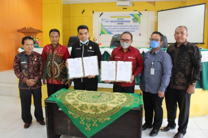 Penandatanganan MOU antara BPJS Ketenagakerjaan dengan Kementerian Agama Kab. Sarolangun